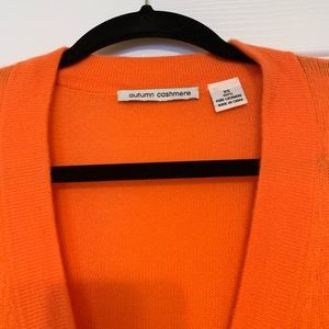 Autumn Cashmere Sweaters - Autumn Cashmere Orange Oversized Cardigan